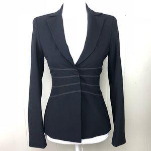 BCBG Max Azria Blazer jacket snaps  wool XS